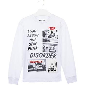 vaatteet Lapset T-paidat & Poolot Losan 023-1000AL Valkoinen