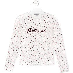 vaatteet Lapset T-paidat & Poolot Losan 024-1008AL Valkoinen