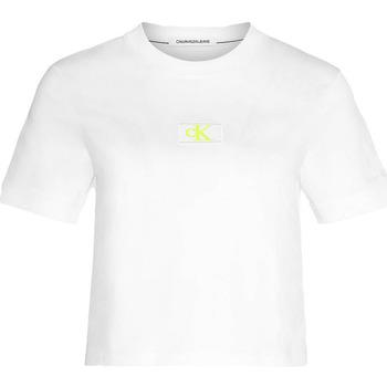 vaatteet Naiset T-paidat & Poolot Calvin Klein Jeans J20J214148 Valkoinen