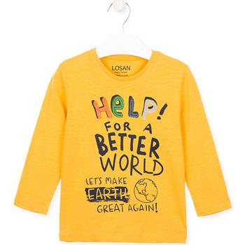 vaatteet Lapset T-paidat & Poolot Losan 025-1005AL Keltainen