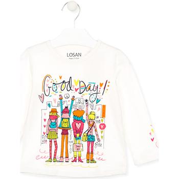vaatteet Lapset T-paidat & Poolot Losan 026-1003AL Valkoinen