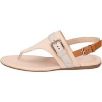kengät Naiset Sandaalit ja avokkaat Hogan Sandali Pelle nabuk Pelle Beige