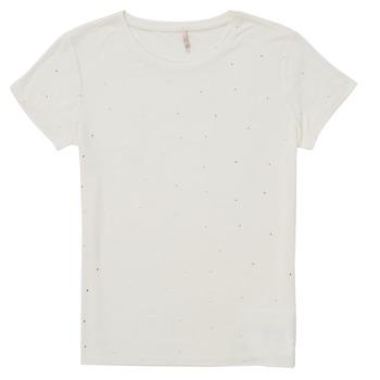 vaatteet Tytöt Lyhythihainen t-paita Only KONMOULINS Valkoinen