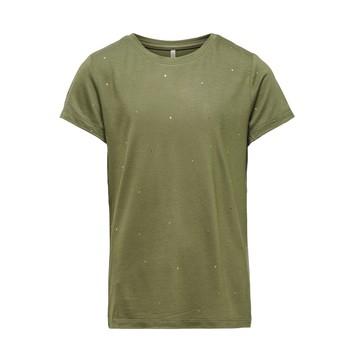 vaatteet Tytöt Lyhythihainen t-paita Only KONMOULINS Khaki