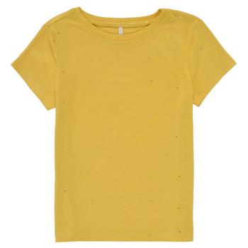 vaatteet Tytöt Lyhythihainen t-paita Only KONMOULINS Keltainen