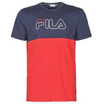 vaatteet Miehet Lyhythihainen t-paita Fila JOPI Punainen / Laivastonsininen