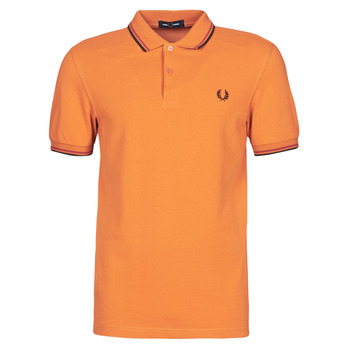 vaatteet Miehet Lyhythihainen poolopaita Fred Perry TWIN TIPPED FRED PERRY SHIRT Kamelinruskea