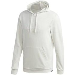 vaatteet Miehet Svetari adidas Originals Brilliant Basics Hooded Valkoiset