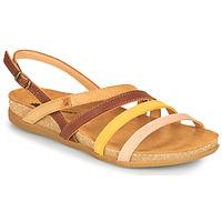 kengät Naiset Sandaalit ja avokkaat El Naturalista ZUMAIA Ruskea / Keltainen / Vaaleanpunainen