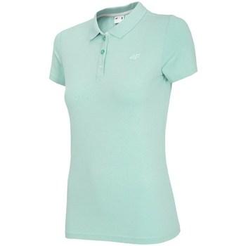 vaatteet Naiset Lyhythihainen poolopaita 4F TSD008 Vihreät