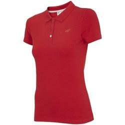 vaatteet Naiset Lyhythihainen poolopaita 4F TSD008 Punainen