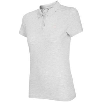 vaatteet Naiset Lyhythihainen poolopaita 4F TSD007 Valkoiset