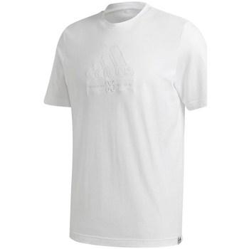 vaatteet Miehet Lyhythihainen t-paita adidas Originals Brilliant Basics Tee Valkoiset