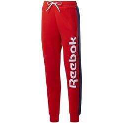 vaatteet Naiset Verryttelyhousut Reebok Sport TE Liner Logo French Terry Punainen