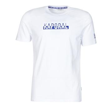 vaatteet Miehet Lyhythihainen t-paita Kaporal DINO Valkoinen