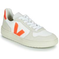 kengät Matalavartiset tennarit Veja V-10 Valkoinen / Oranssi
