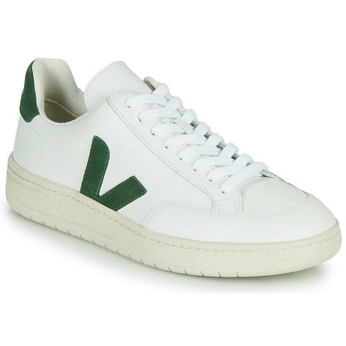 kengät Matalavartiset tennarit Veja V-12 Valkoinen / Vihreä