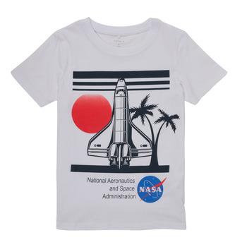 vaatteet Pojat Lyhythihainen t-paita Name it NASA Valkoinen