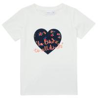 vaatteet Tytöt Lyhythihainen t-paita Name it NMFDELFIN TOP Valkoinen