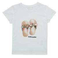 vaatteet Tytöt Lyhythihainen t-paita Name it NMFFISUMMER Valkoinen