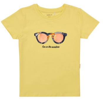 vaatteet Tytöt Lyhythihainen t-paita Name it NMFFISUMMER Keltainen
