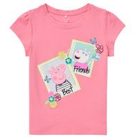 vaatteet Tytöt Lyhythihainen t-paita Name it PEPPAPIG Vaaleanpunainen