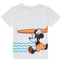 vaatteet Pojat Lyhythihainen t-paita Name it NMMMICKEY Valkoinen