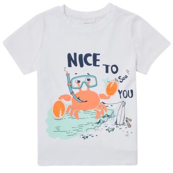 vaatteet Pojat Lyhythihainen t-paita Name it NMMFANO Valkoinen