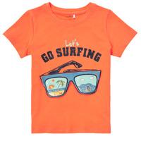 vaatteet Pojat Lyhythihainen t-paita Name it NMMFANO Oranssi