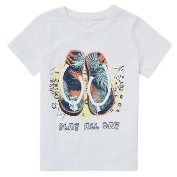 vaatteet Pojat Lyhythihainen t-paita Name it NMMFASHO Valkoinen