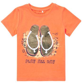 vaatteet Pojat Lyhythihainen t-paita Name it NMMFASHO Oranssi