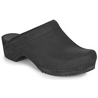 kengät Naiset Puukengät Sanita CHRISSY Musta