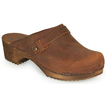 kengät Naiset Puukengät Sanita URSANA Ruskea