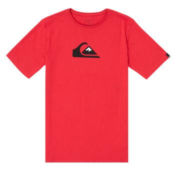 vaatteet Pojat Lyhythihainen t-paita Quiksilver COMP LOGO Punainen
