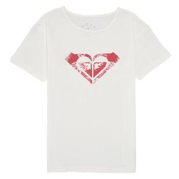 vaatteet Tytöt Lyhythihainen t-paita Roxy DAY AND NIGHT PRINT Valkoinen
