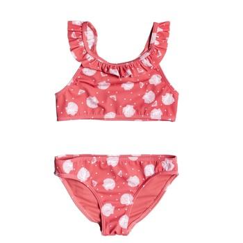 vaatteet Tytöt Kaksiosainen uimapuku Roxy TEENY EVERGLOW CROP TOP SET Vaaleanpunainen
