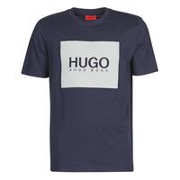 vaatteet Miehet Lyhythihainen t-paita HUGO DOLIVE Laivastonsininen