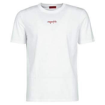 vaatteet Miehet Lyhythihainen t-paita BOSS DURNED Valkoinen