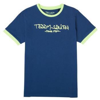 vaatteet Pojat Lyhythihainen t-paita Teddy Smith TICLASS 3 Laivastonsininen