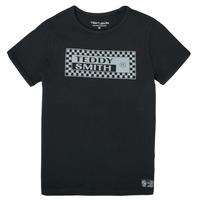 vaatteet Pojat Lyhythihainen t-paita Teddy Smith T-VANY Musta
