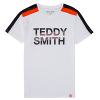 vaatteet Pojat Lyhythihainen t-paita Teddy Smith T-MACK Valkoinen