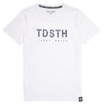 vaatteet Pojat Lyhythihainen t-paita Teddy Smith T-MAX Valkoinen