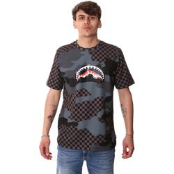 vaatteet Miehet Lyhythihainen t-paita Sprayground SP01820BLA Musta