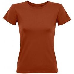 vaatteet Naiset Lyhythihainen t-paita Sols 2758 Terracotta