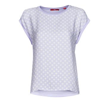vaatteet Naiset Lyhythihainen t-paita S.Oliver 14-1Q1-32-6972-48B2 Sininen