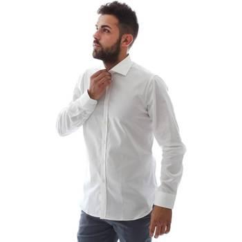 vaatteet Miehet Pitkähihainen paitapusero Gmf EQ2 1428 951106/01 Valkoinen