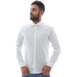 vaatteet Miehet Pitkähihainen paitapusero Gmf GMF5 4864 8 Valkoinen