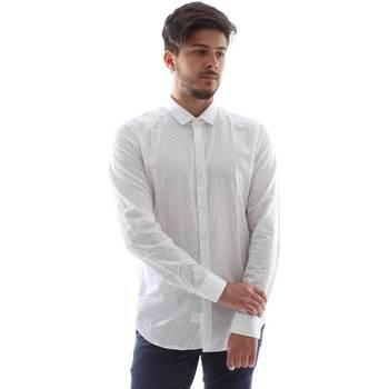 vaatteet Miehet Pitkähihainen paitapusero Gmf FS15 961138/1 Valkoinen