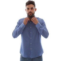 vaatteet Miehet Pitkähihainen paitapusero Gmf 961414/5 Sininen