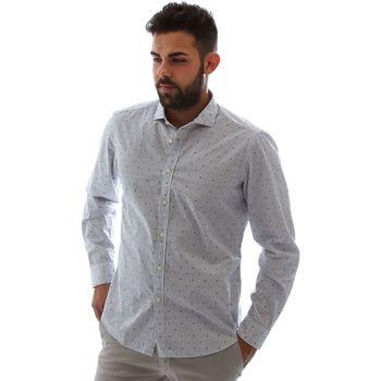 vaatteet Miehet Pitkähihainen paitapusero Gmf 961232/4 Valkoinen